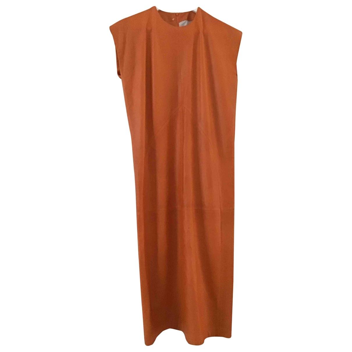 Trussardi \N Kleid in  Orange Leder