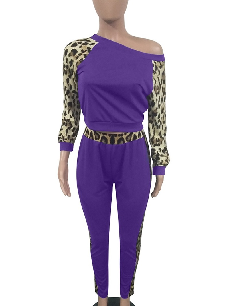 Ericdress Casual Leopard Pullover Two Piece Sets