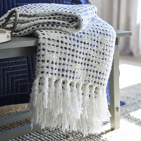 JCPenney Home Boucle Throw, One Size , Blue