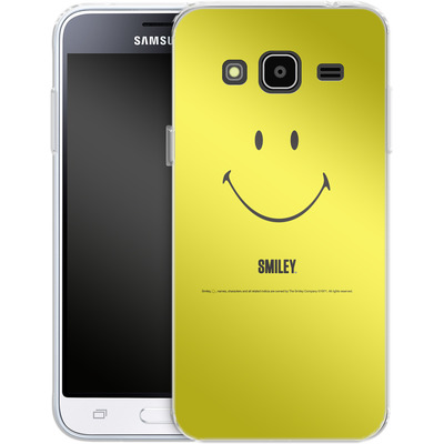 Samsung Galaxy J3 (2016) Silikon Handyhuelle - Smiley All Over von Smiley®