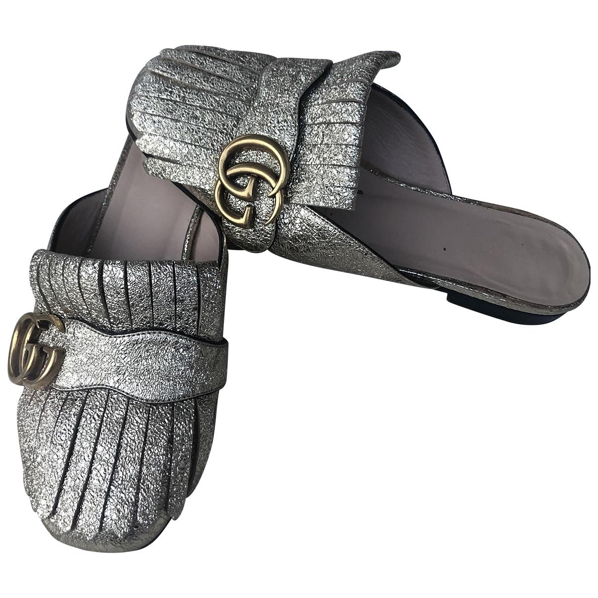 Bailarinas Marmont de Cuero Gucci