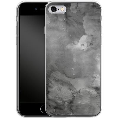 Apple iPhone 6s Silikon Handyhuelle - Black Watercolor von Emanuela Carratoni