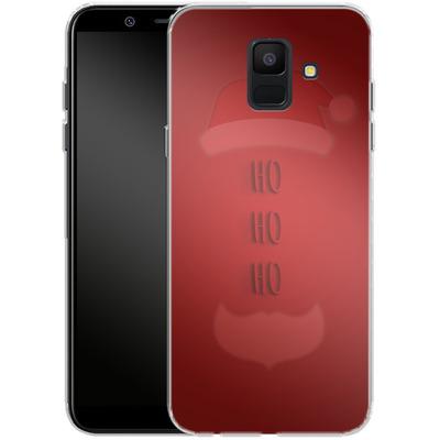 Samsung Galaxy A6 Silikon Handyhuelle - Ho Ho Ho von caseable Designs