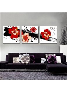 New Arrival Fancy and Cute Red Flowers Canvas Wall Prints