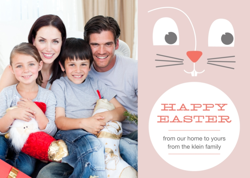 Easter Cards Flat Matte Photo Paper Cards with Envelopes, 5x7, Card & Stationery -Easter Bunny