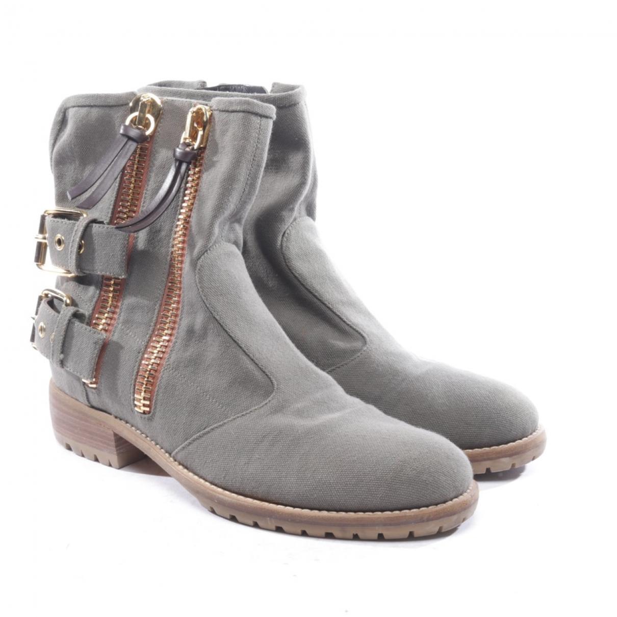 Giuseppe Zanotti - Boots   pour femme en toile - gris