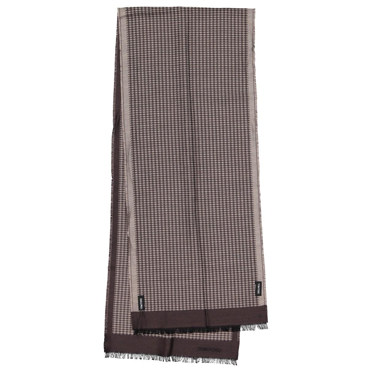 Tom Ford - Foulard   pour femme en laine - marron