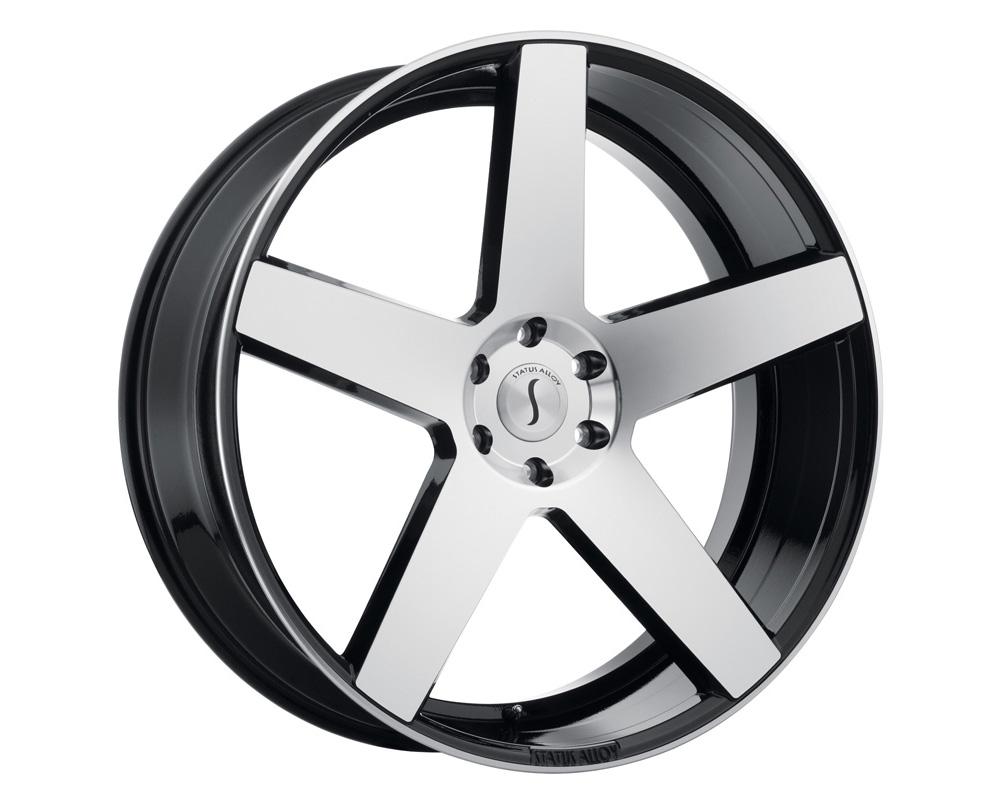 Status Empire Wheel 22x9.5 5x115 15mm Gloss Black w/ Machined Face