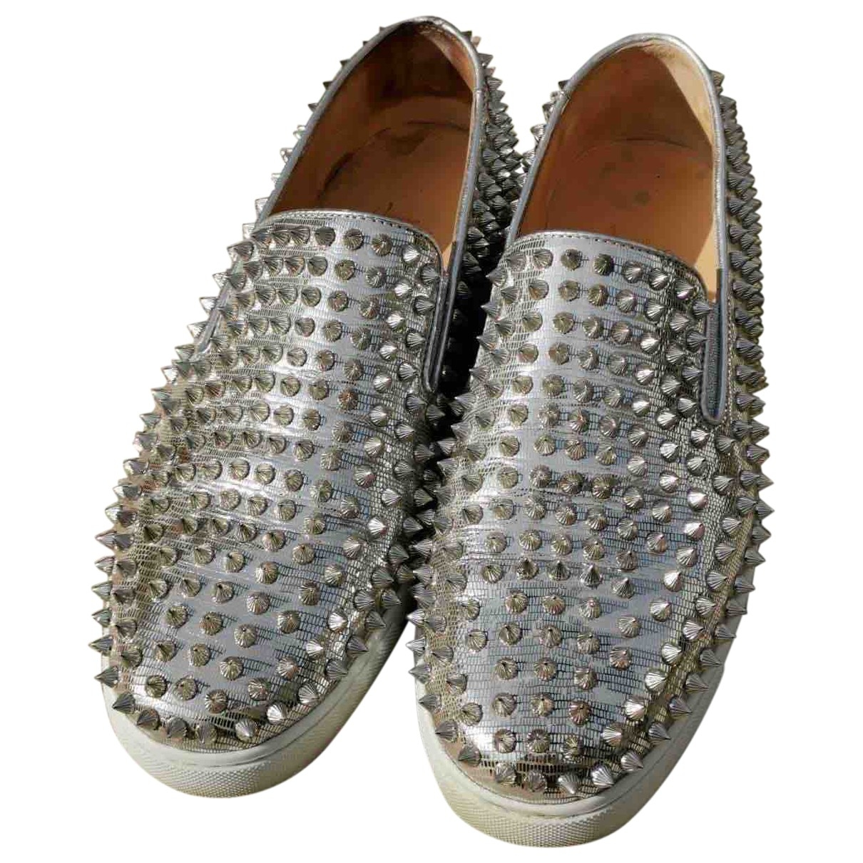 Christian Louboutin \N Silver Leather Trainers for Women 42 EU