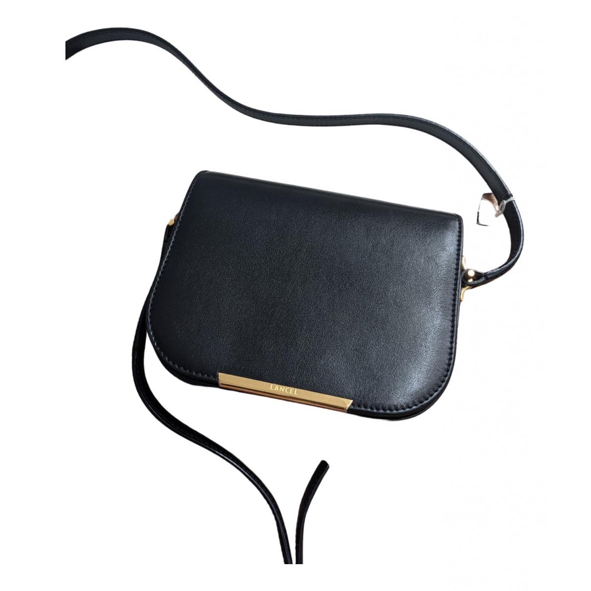 Lancel Bianca Handtasche in  Schwarz Leder