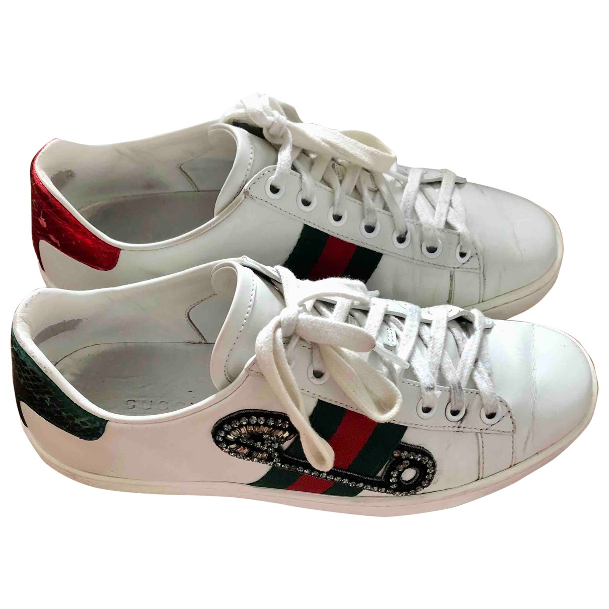 Gucci Ace White Leather Trainers for Women 35 EU
