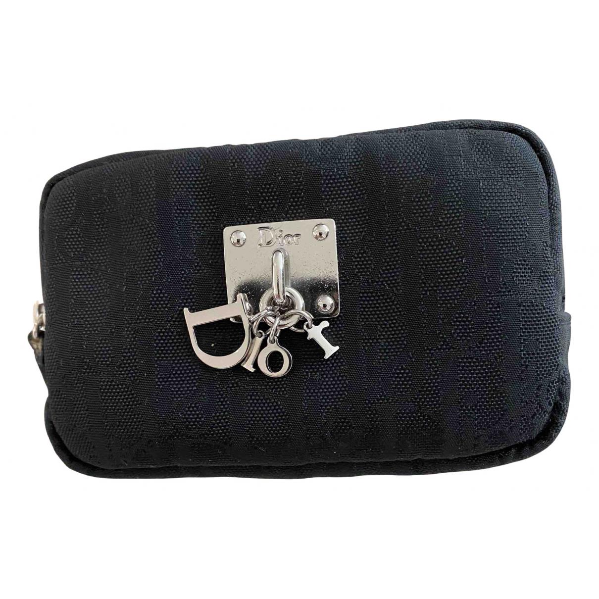 Christian Dior - Portefeuille   pour femme en toile - noir