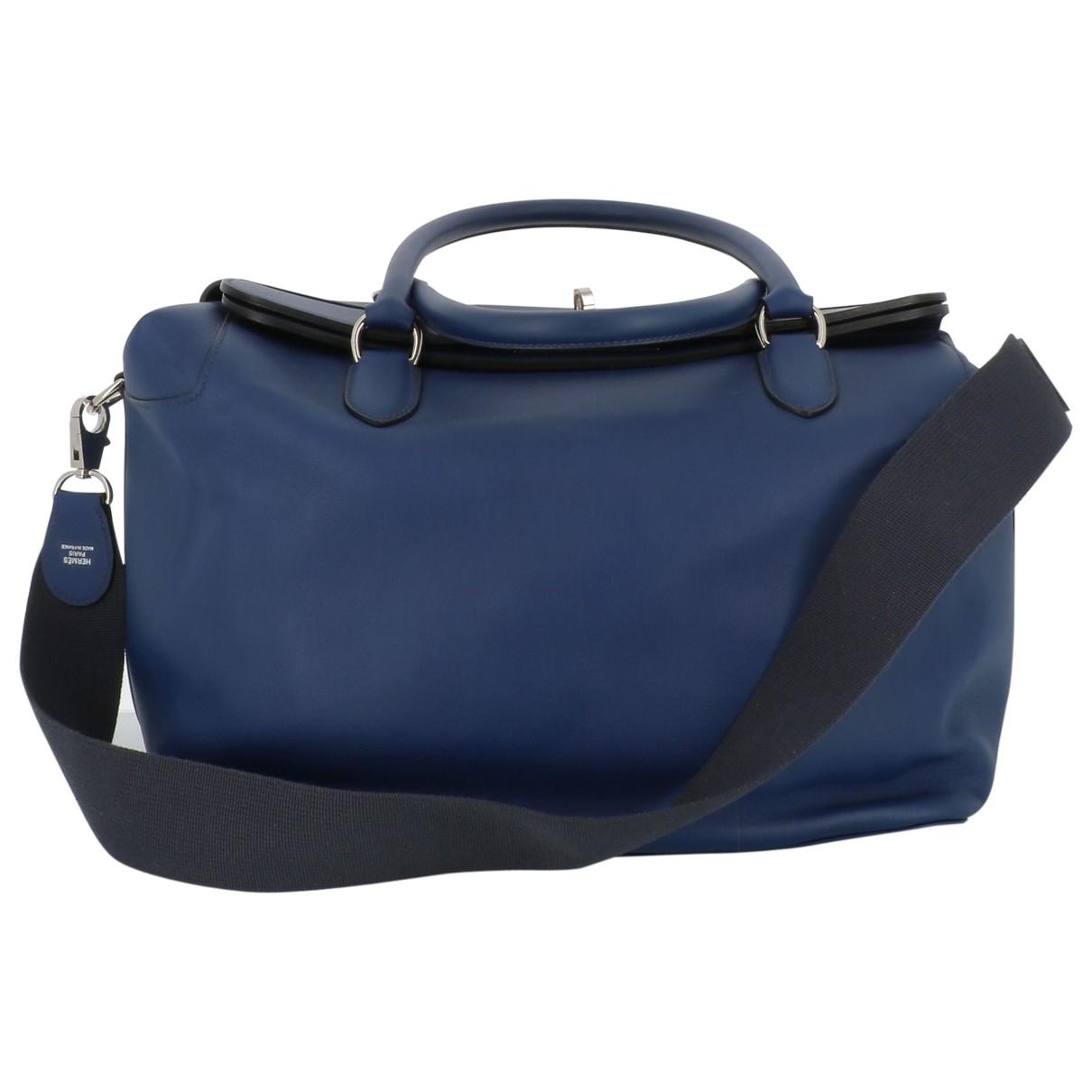 Hermès \N Blue Leather handbag for Women \N