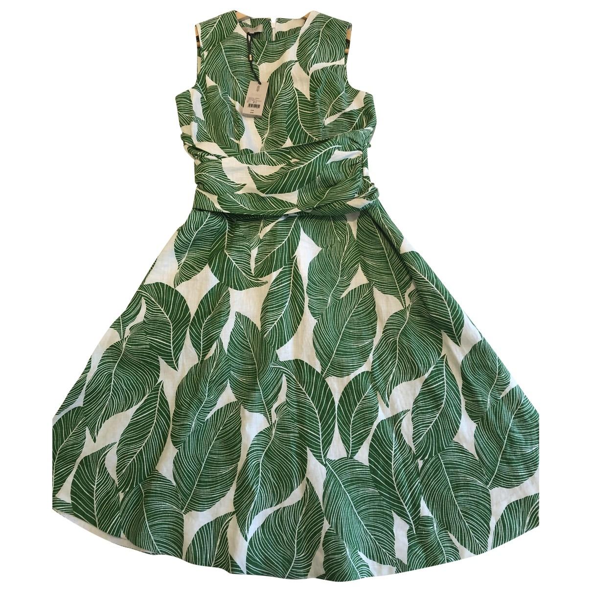 Hobbs \N Green Linen dress for Women 10 UK