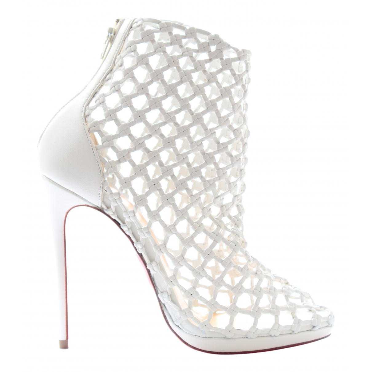 Christian Louboutin N White Leather Ankle boots for Women 36 EU