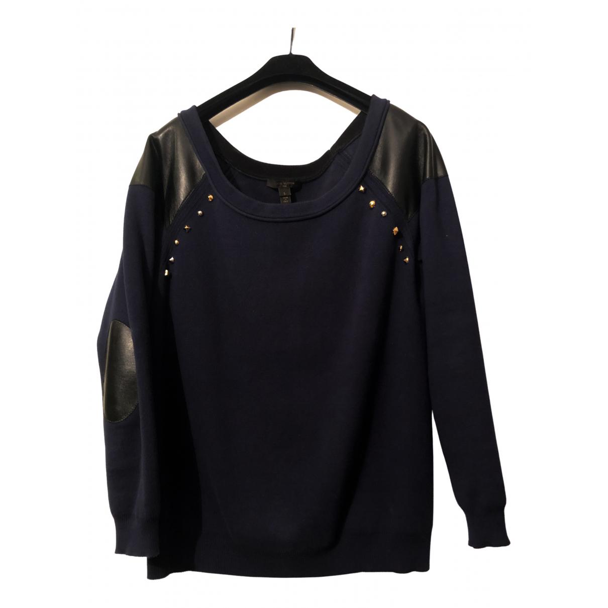 Louis Vuitton - Pull   pour femme en coton - marine