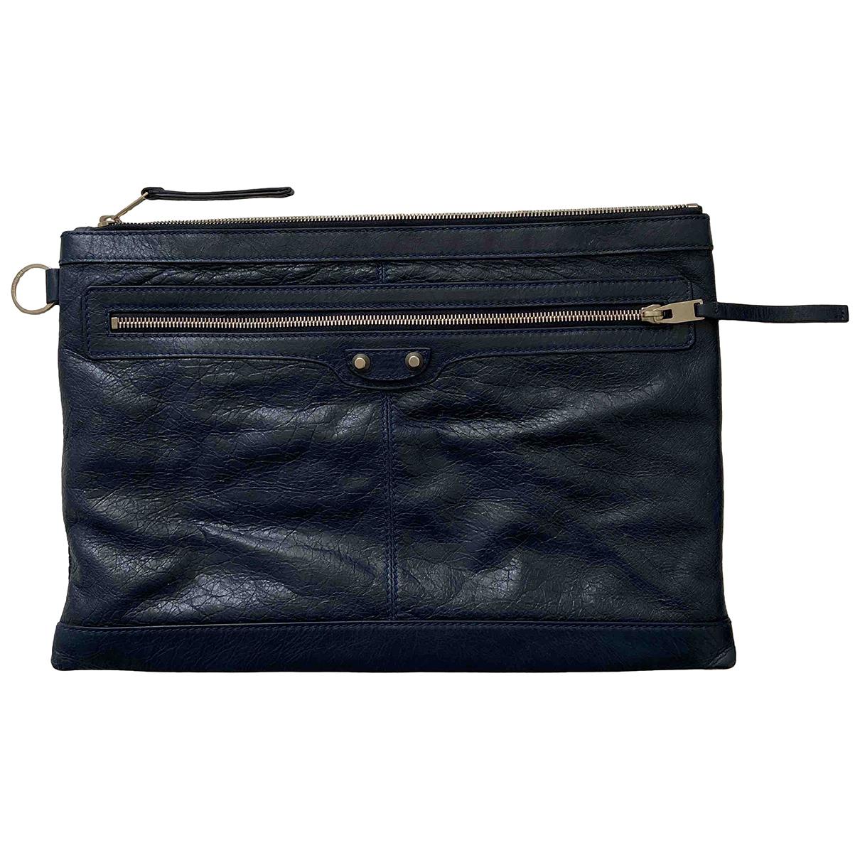 Balenciaga N Blue Leather bag for Men N