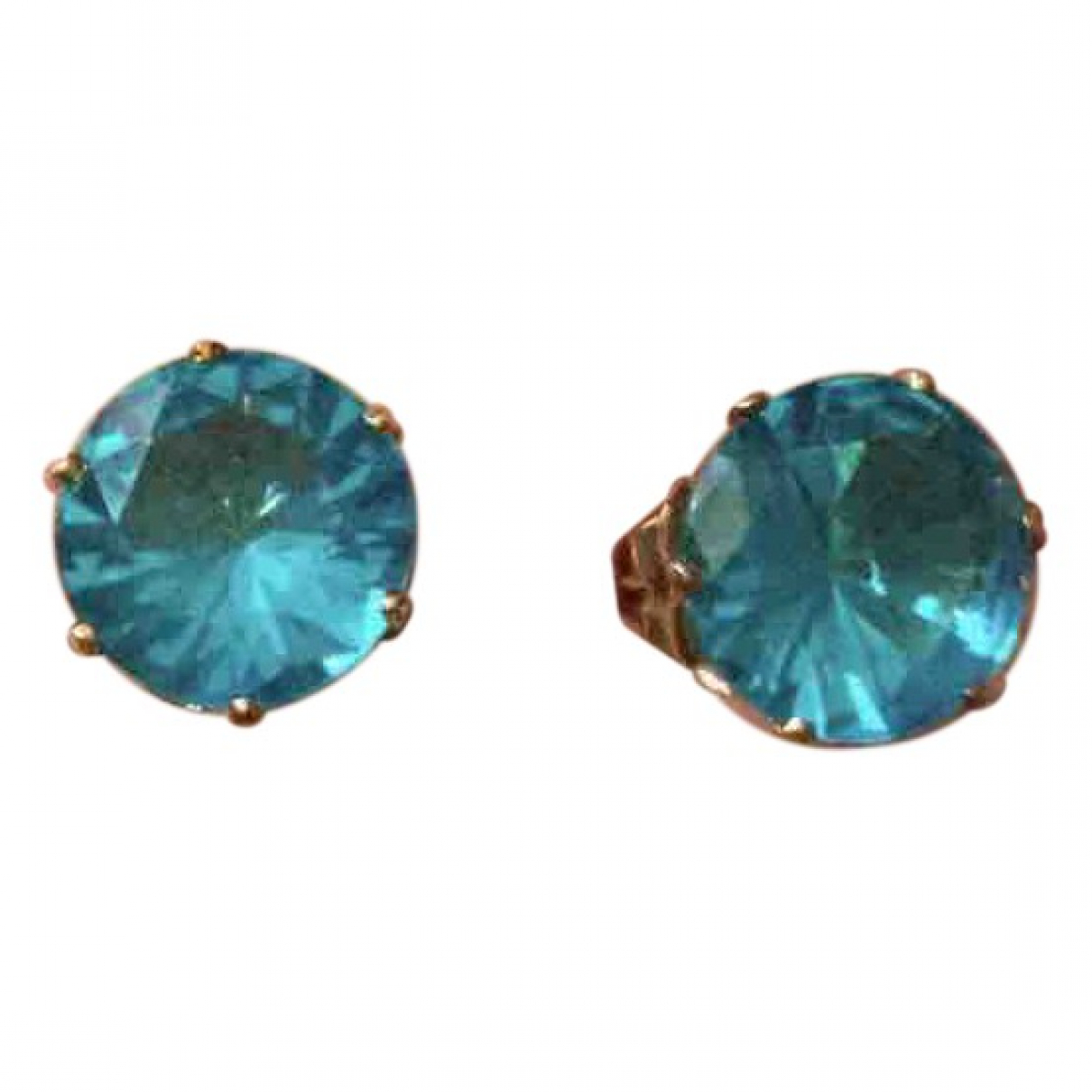 Non Signé / Unsigned Turquoises Blue Gold plated Earrings for Women \N