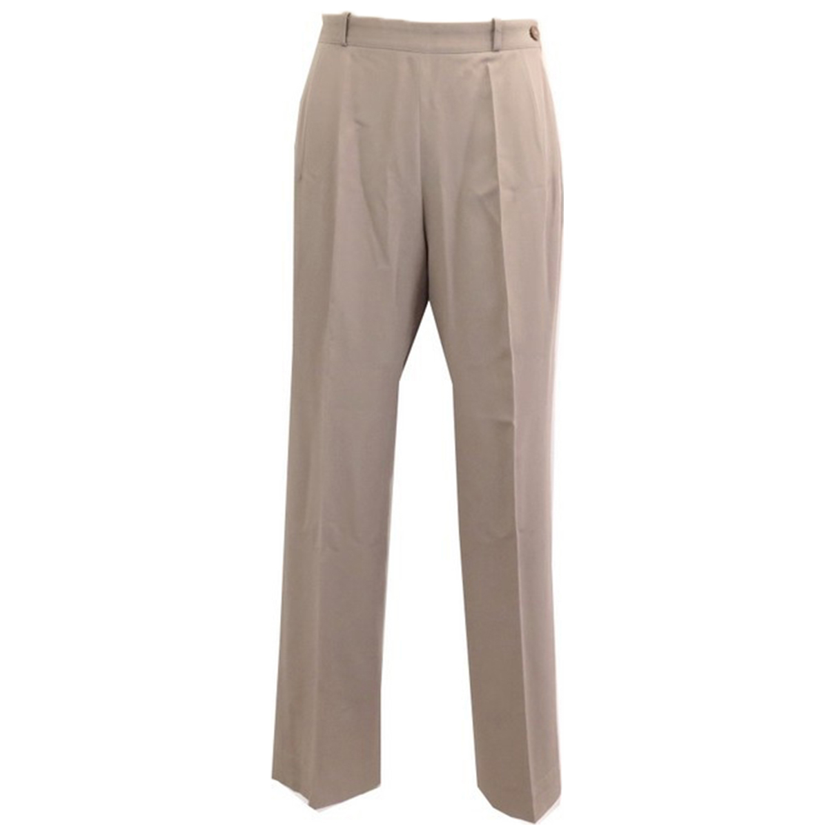 Hermès \N Beige Wool Trousers for Women M International