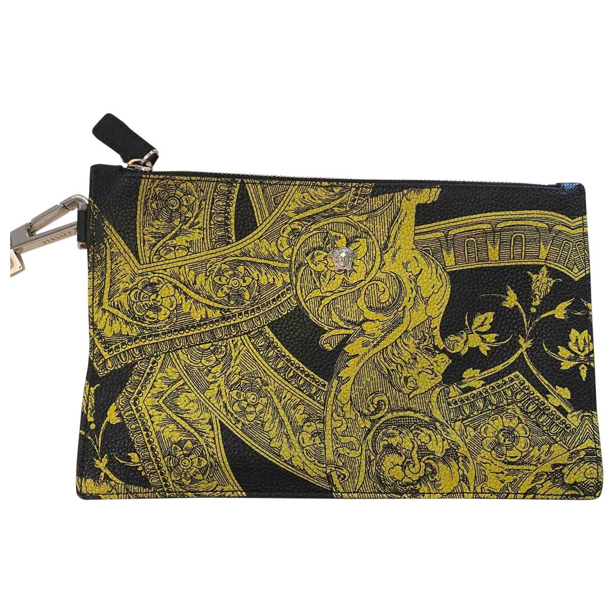 Versace - Petite maroquinerie   pour homme en cuir - jaune