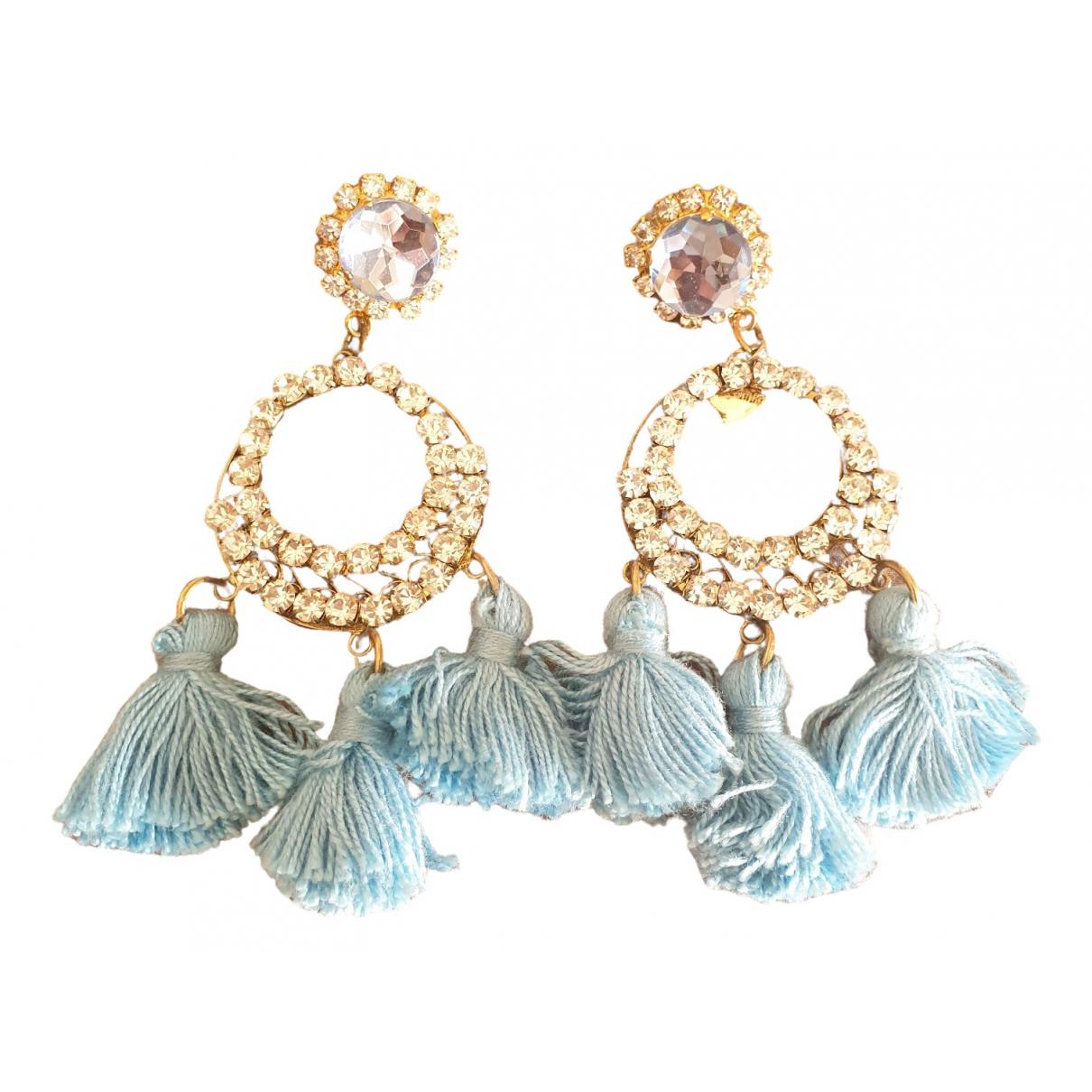 Mercantia - Boucles doreilles   pour femme en metal - turquoise
