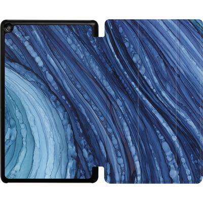 Amazon Fire HD 8 (2017) Tablet Smart Case - Blue Agate Crystal Slice von Becky Starsmore