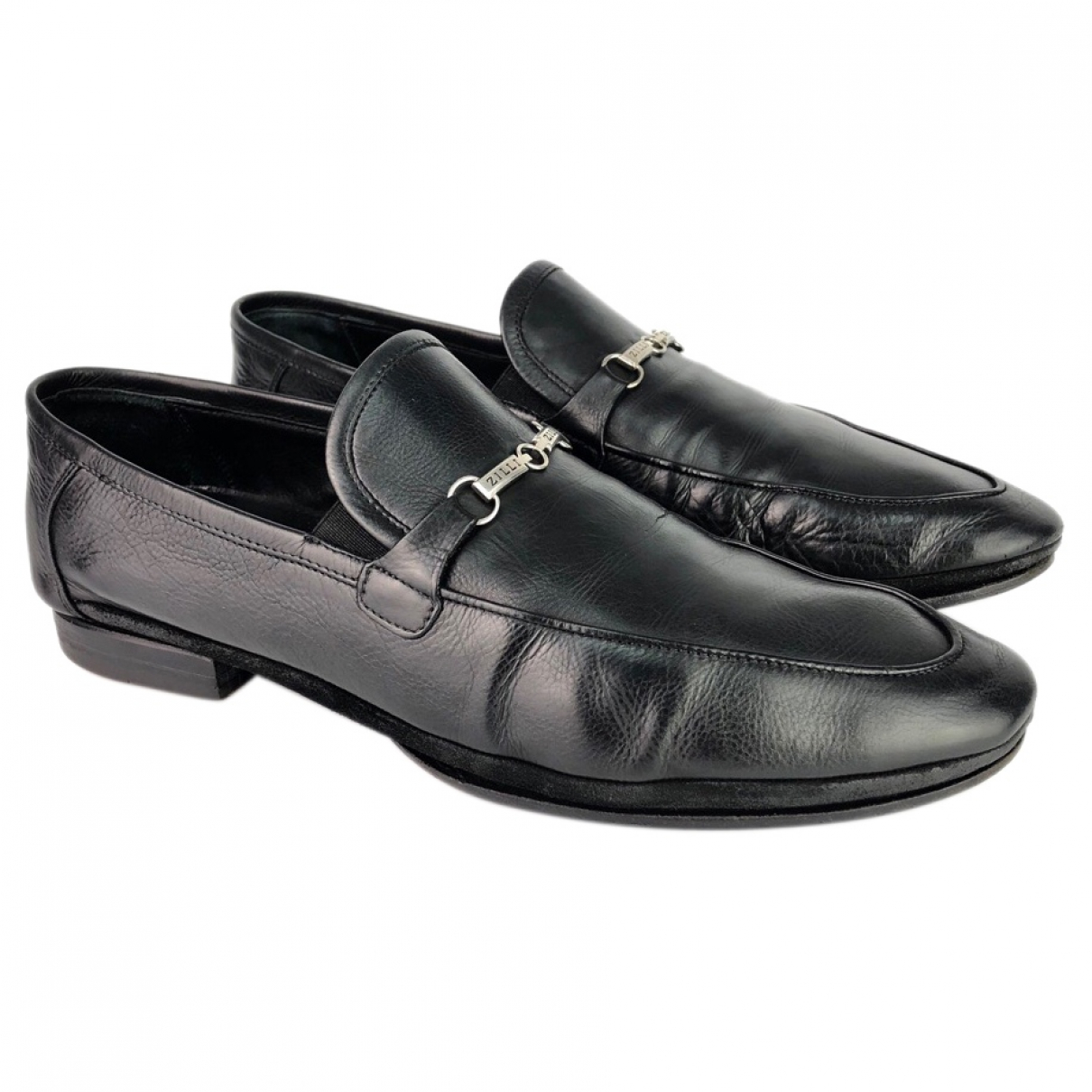 Zilli \N Black Leather Flats for Men 43.5 EU