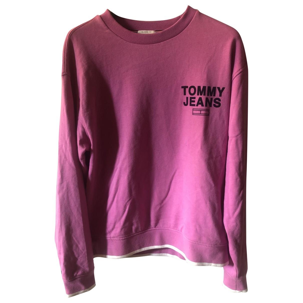 Tommy Jeans \N Pullover.Westen.Sweatshirts  in  Rosa Baumwolle