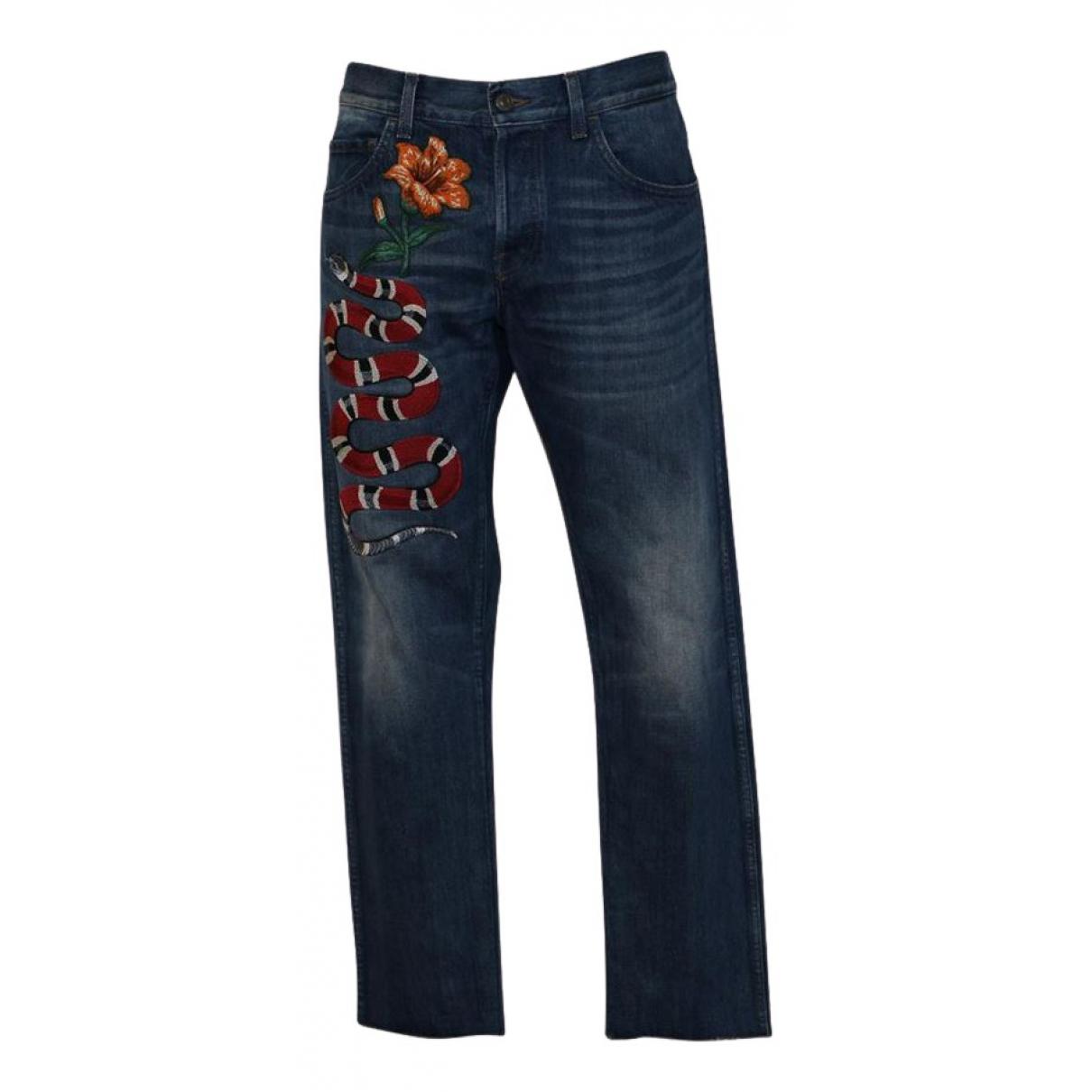 Gucci - Jean   pour homme en coton - bleu
