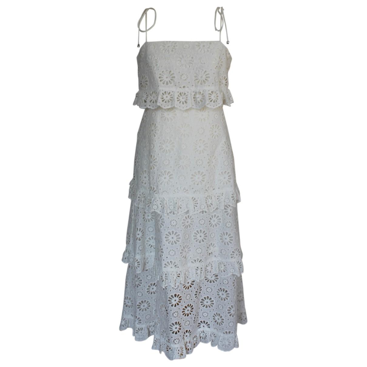 Zimmermann - Robe   pour femme en coton - ecru