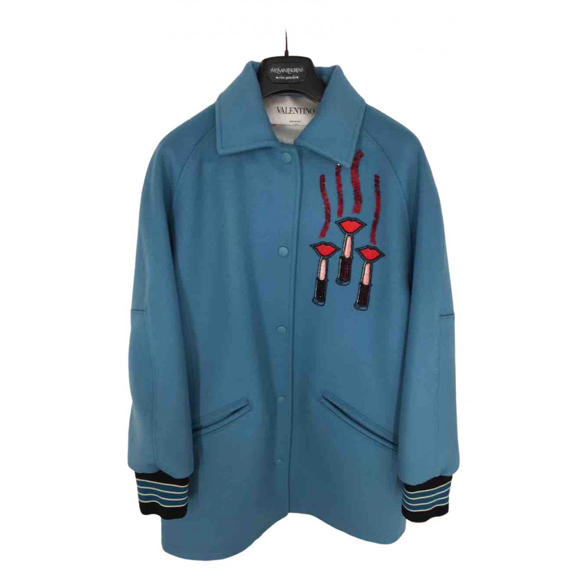 Valentino Garavani - Manteau   pour femme en laine - bleu