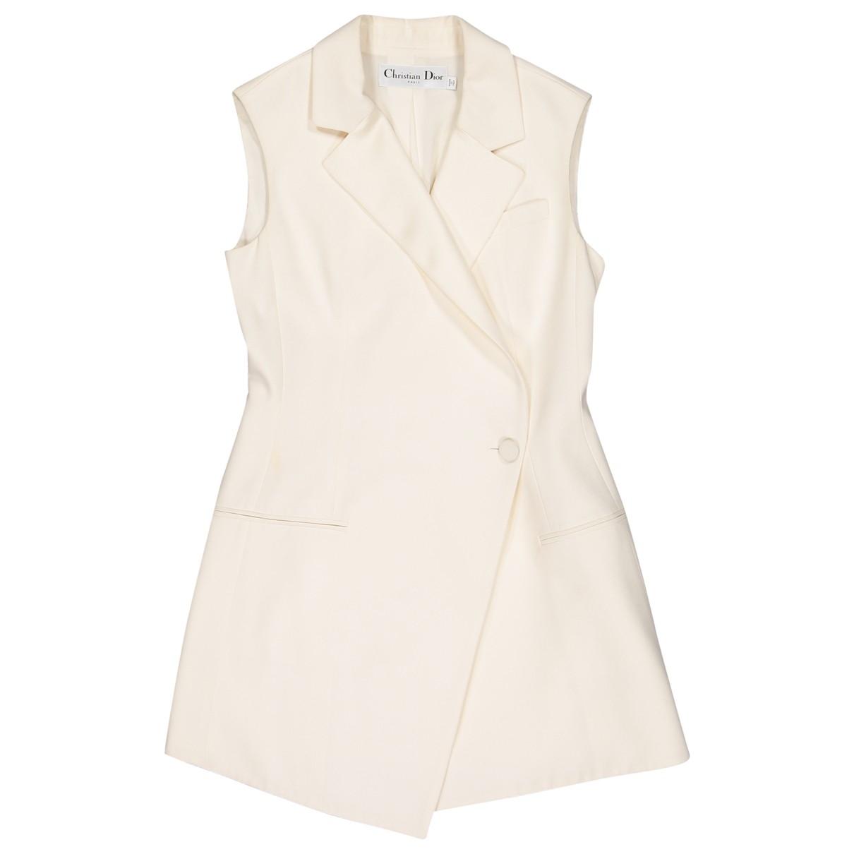 Dior - Veste   pour femme en soie - ecru