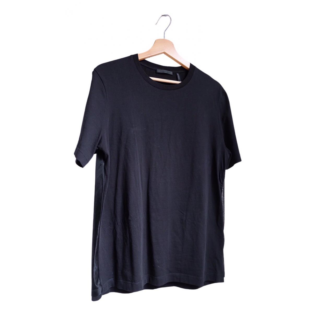 Helmut Lang - Tee shirts   pour homme en coton - noir