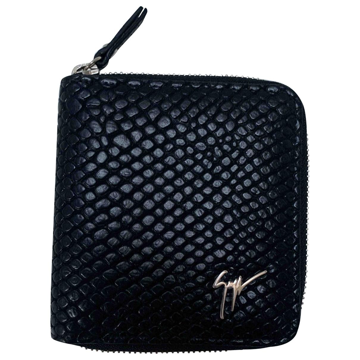 Giuseppe Zanotti \N Black Leather Small bag, wallet & cases for Men \N