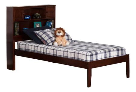 Newport Collection AR8511004 Twin Extra Long Size Platform Bed with Bookcase Headboard  Open Foot Board  Hardwood Slat Kit and Eco-Friendly Solid