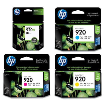 HP OfficeJet 7000 HP 920 cartouches d'encre noire/cyan/magenta/jaune originales combo, 4 paquet