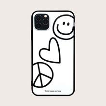 iPhone Etui mit Herzen Muster