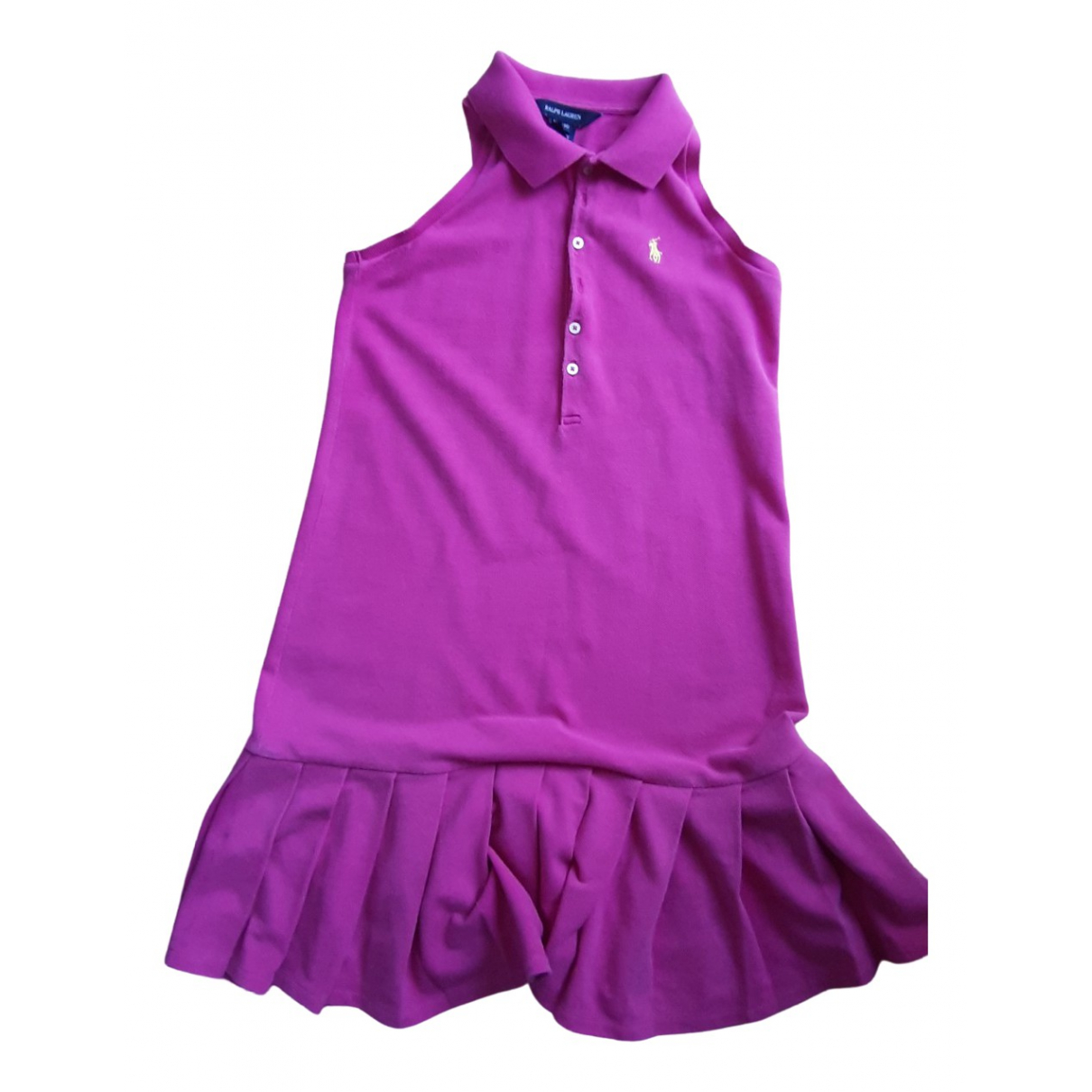 Ralph Lauren N Pink Cotton dress for Kids 12 years - XS FR