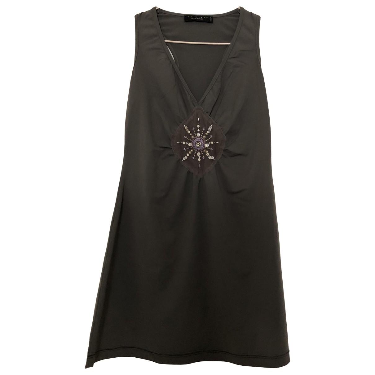 Twin Set \N Kleid in  Grau Baumwolle