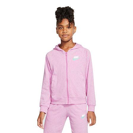 Nike Big Girls Hoodie, X-large , Pink
