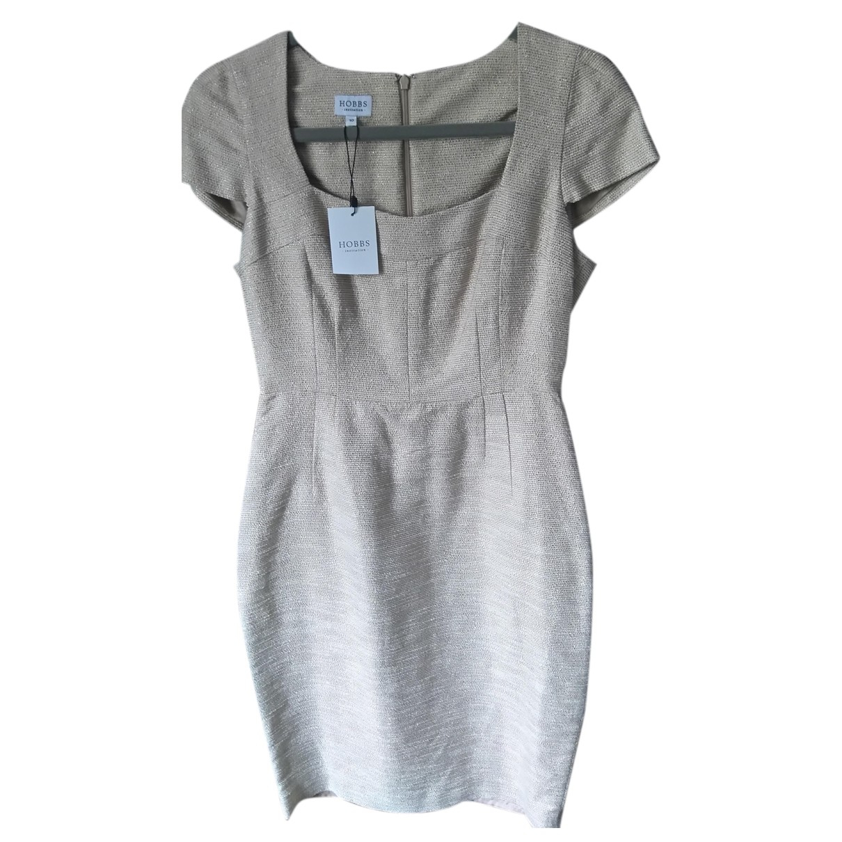 Hobbs N Beige Cotton dress for Women 10 UK