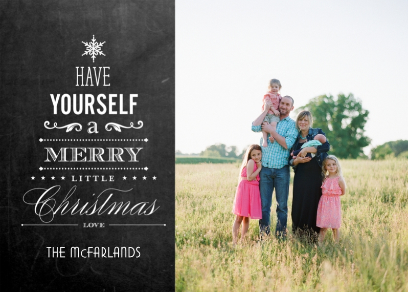 Christmas Photo Cards 5x7 Cards, Premium Cardstock 120lb with Elegant Corners, Card & Stationery -Merry Little Christmas