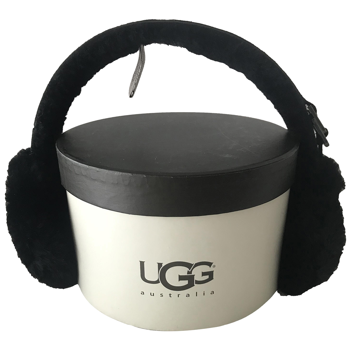 Ugg N Black Faux fur hat for Women M International