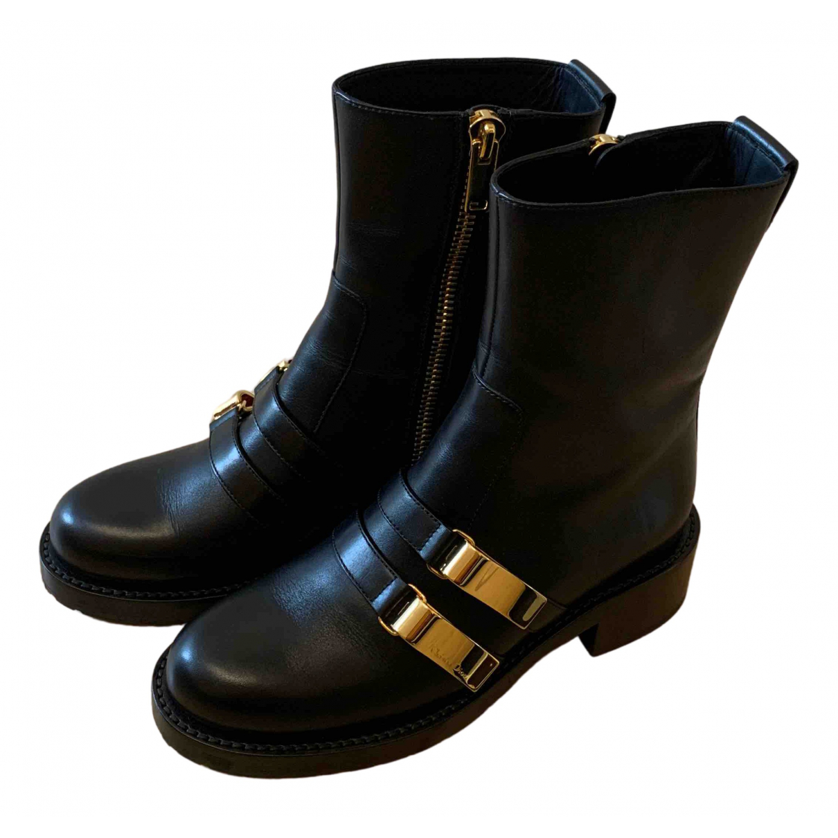 Dior N Black Leather Ankle boots for Women 38 EU