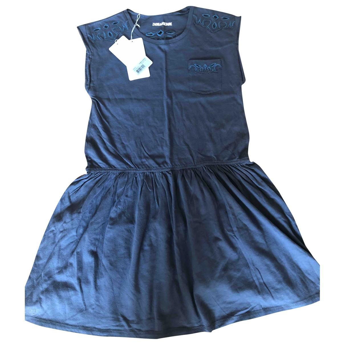 Zadig & Voltaire - Robe    pour enfant en coton - bleu
