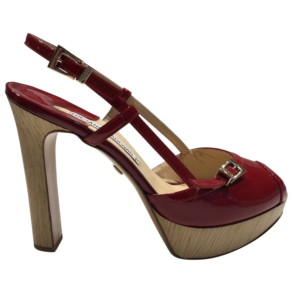 Luciano Padovan \N Red Patent leather Heels for Women 38 EU