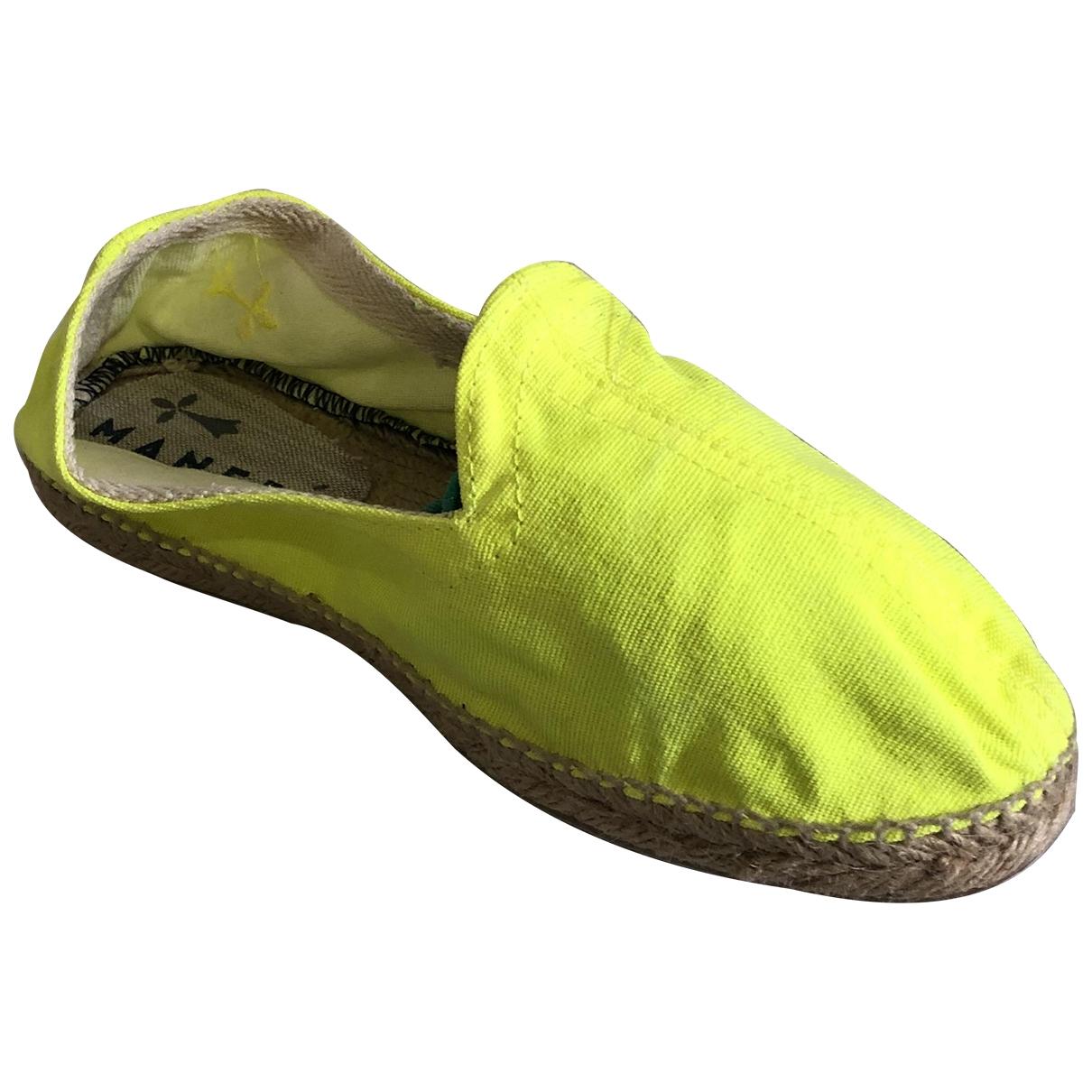 Manebi - Espadrilles   pour femme en toile - jaune