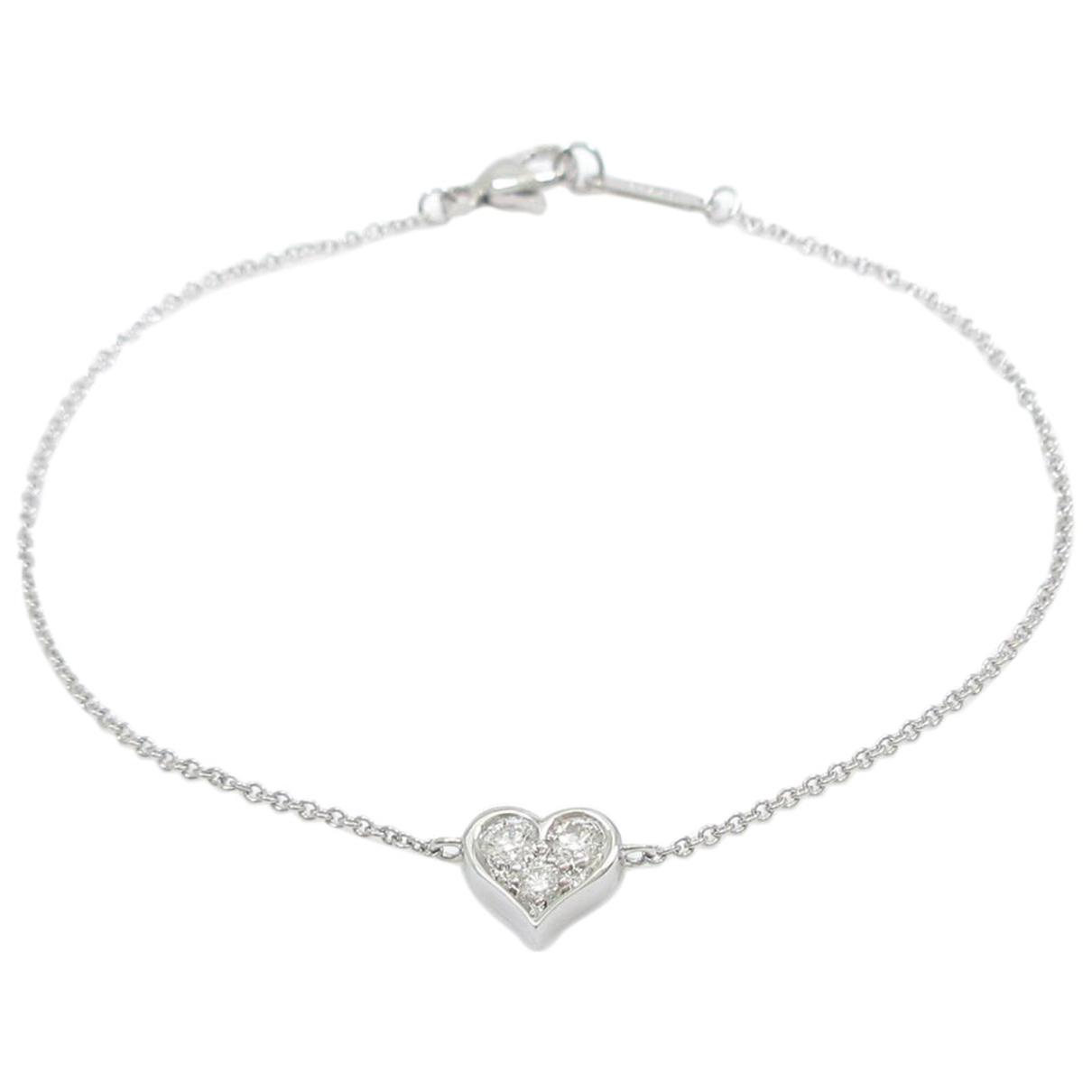 Tiffany & Co \N Armband in  Schwarz Weissgold