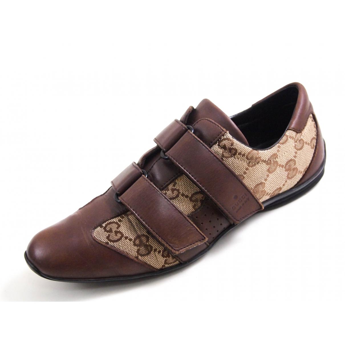 Gucci \N Sneakers in  Braun Leder