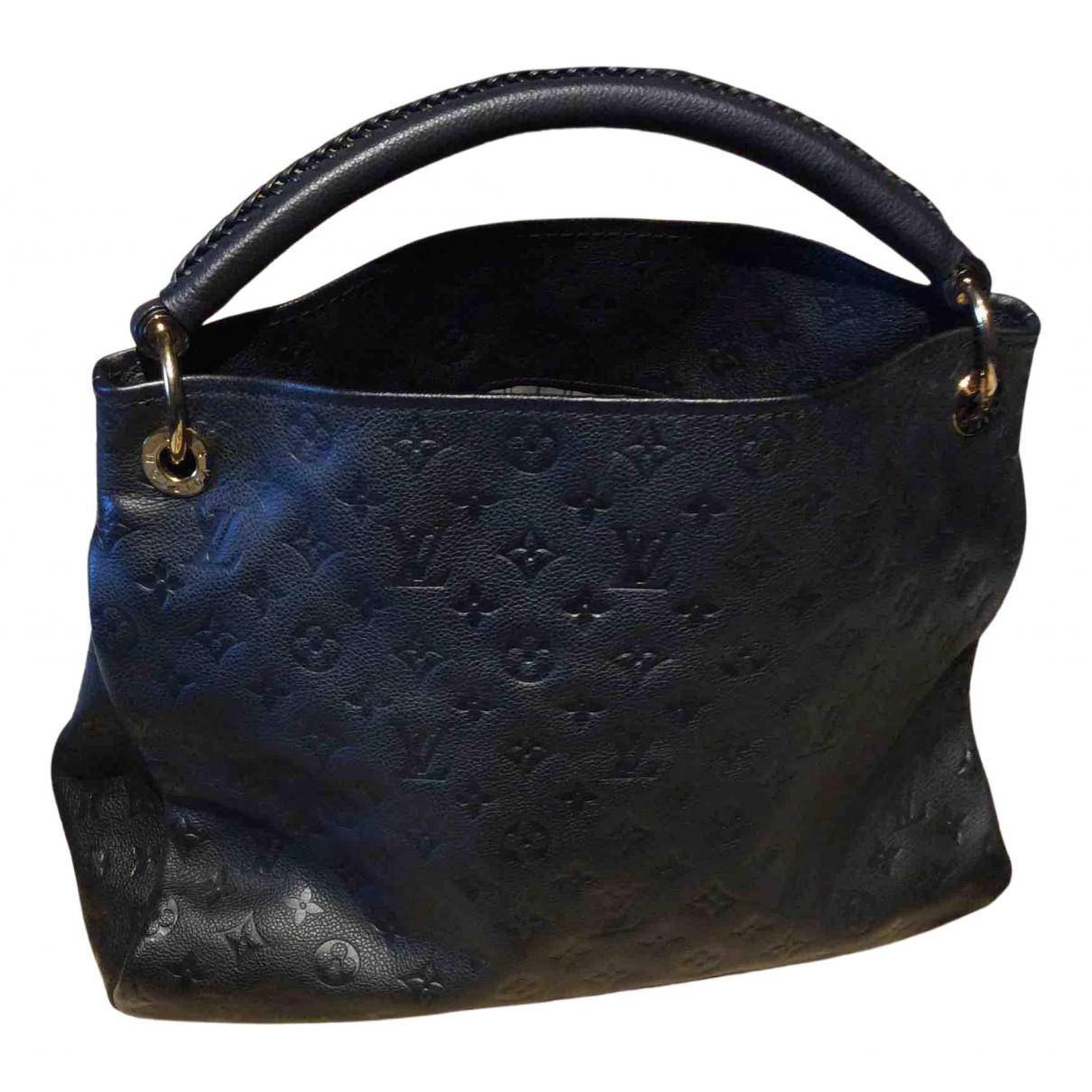 Louis Vuitton - Sac a main Artsy pour femme en cuir - noir